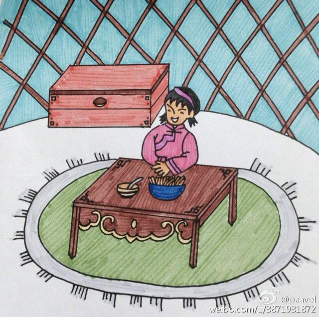 蒙古孩子简笔画 第12张
