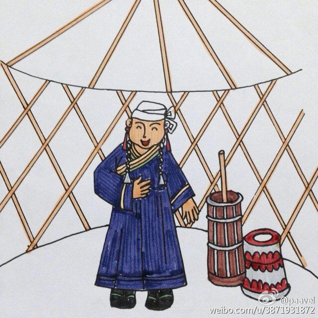 蒙古孩子简笔画 第13张