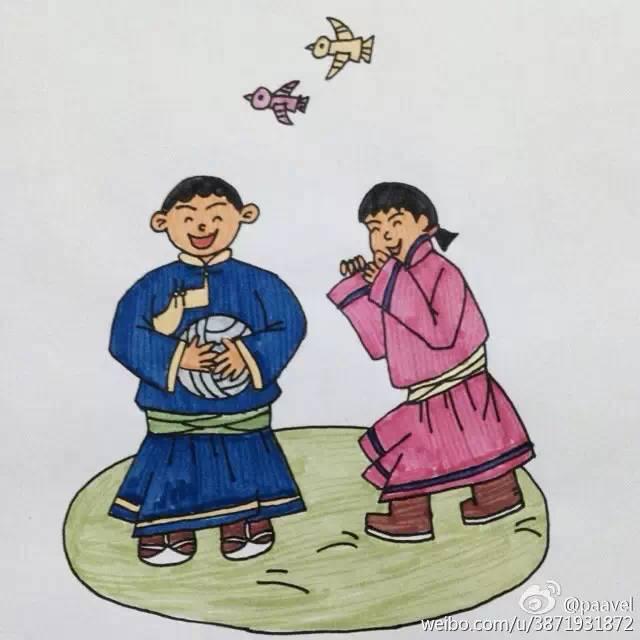 蒙古孩子简笔画 第18张