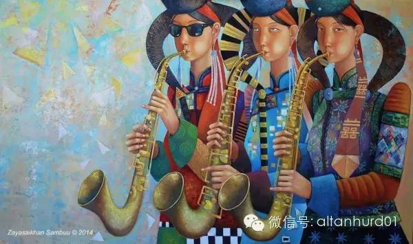 请欣赏蒙古国画家扎雅赛罕美术作品! 第2张