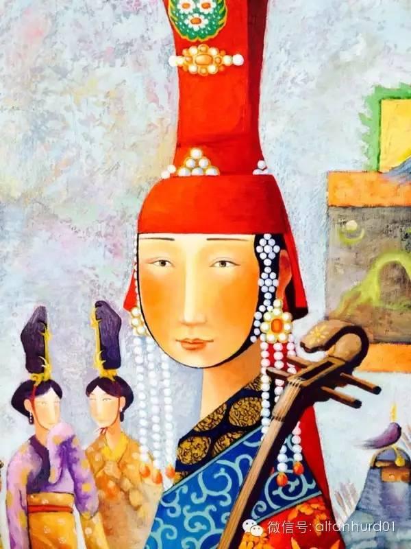 请欣赏蒙古国画家扎雅赛罕美术作品! 第3张