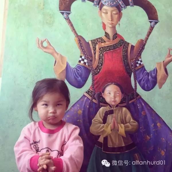 请欣赏蒙古国画家扎雅赛罕美术作品! 第5张