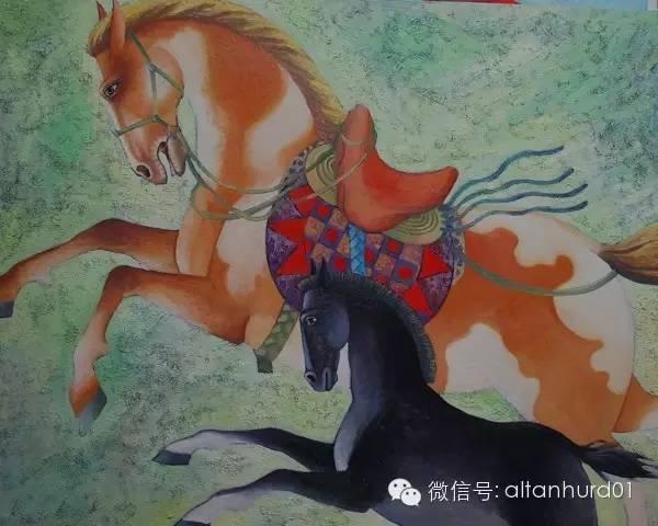 请欣赏蒙古国画家扎雅赛罕美术作品! 第6张