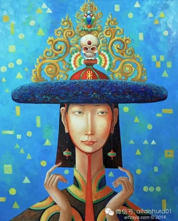 请欣赏蒙古国画家扎雅赛罕美术作品! 第9张
