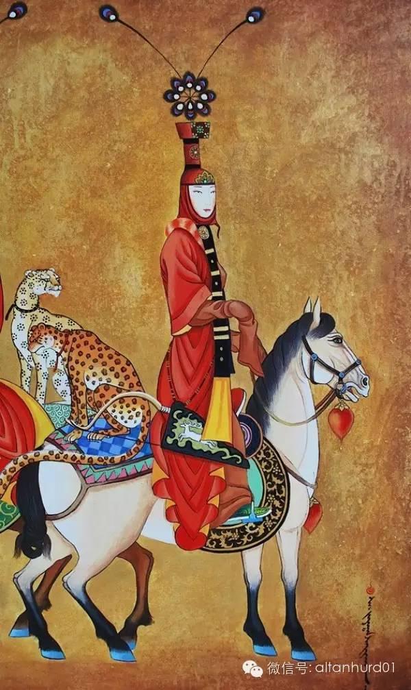 请欣赏蒙古国画家扎雅赛罕美术作品! 第8张