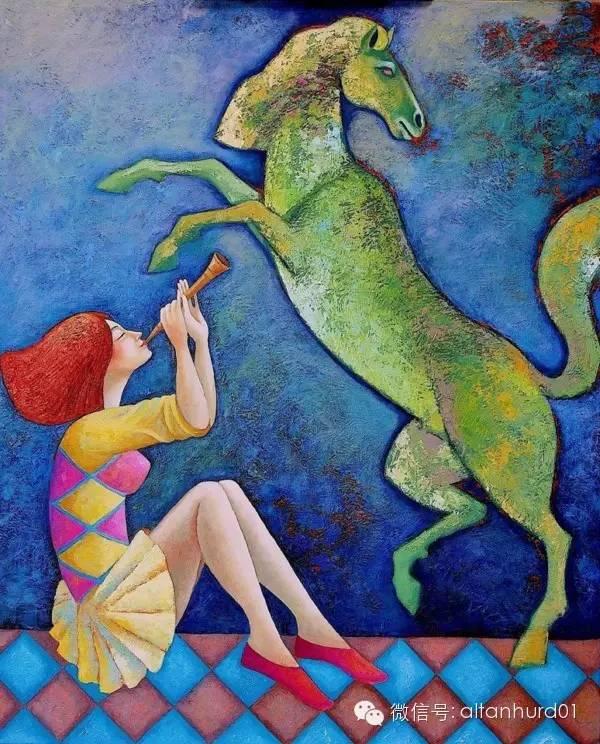 请欣赏蒙古国画家扎雅赛罕美术作品! 第10张