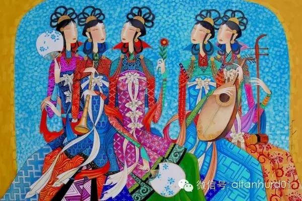 请欣赏蒙古国画家扎雅赛罕美术作品! 第11张