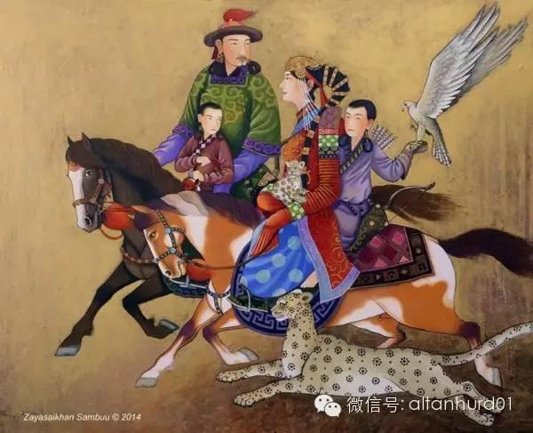 请欣赏蒙古国画家扎雅赛罕美术作品! 第15张