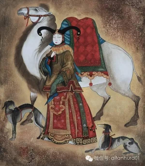 请欣赏蒙古国画家扎雅赛罕美术作品! 第14张