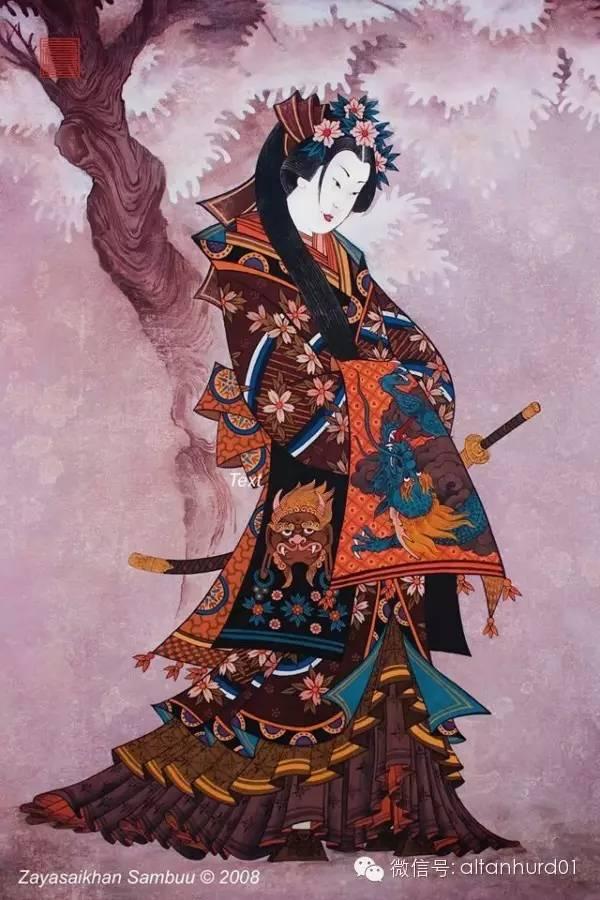 请欣赏蒙古国画家扎雅赛罕美术作品! 第19张