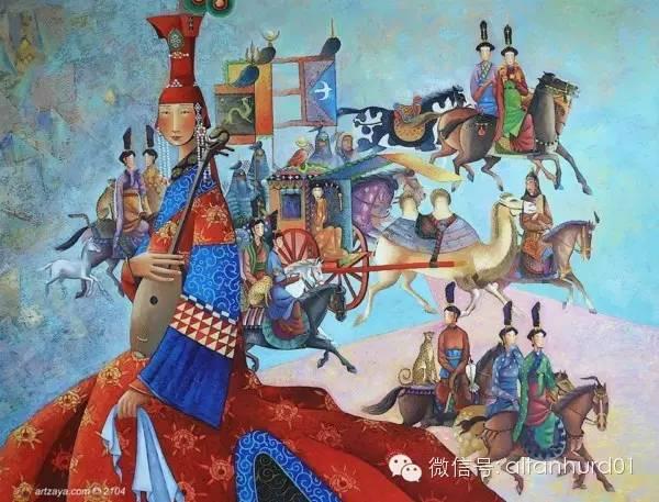 请欣赏蒙古国画家扎雅赛罕美术作品! 第18张