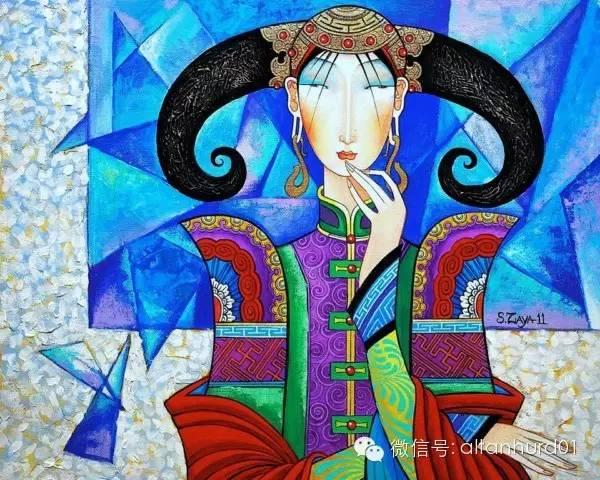 请欣赏蒙古国画家扎雅赛罕美术作品! 第17张
