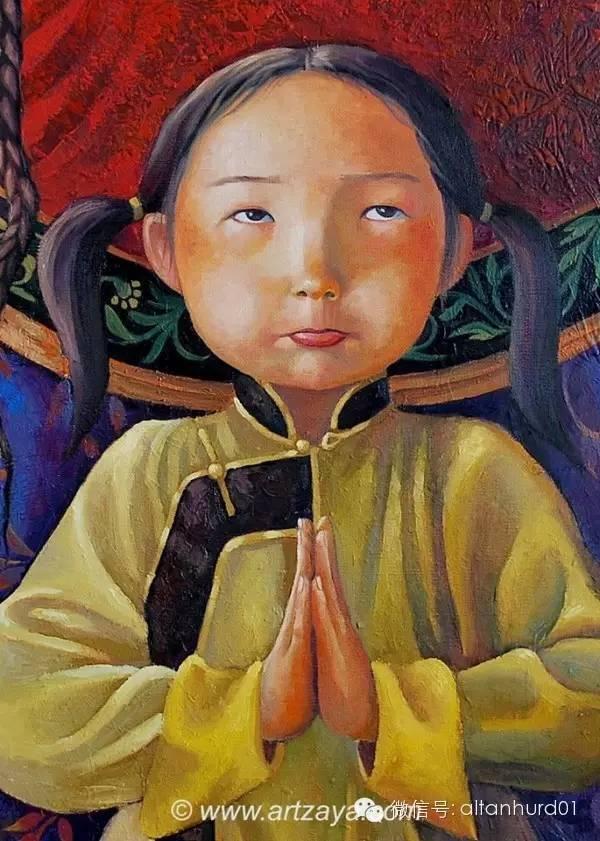 请欣赏蒙古国画家扎雅赛罕美术作品! 第22张