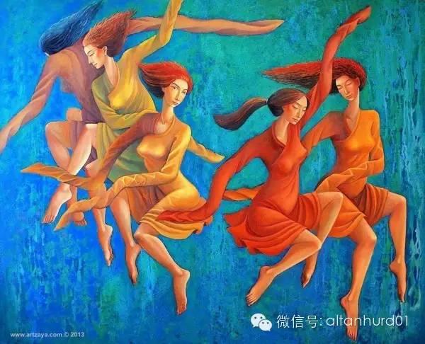请欣赏蒙古国画家扎雅赛罕美术作品! 第21张