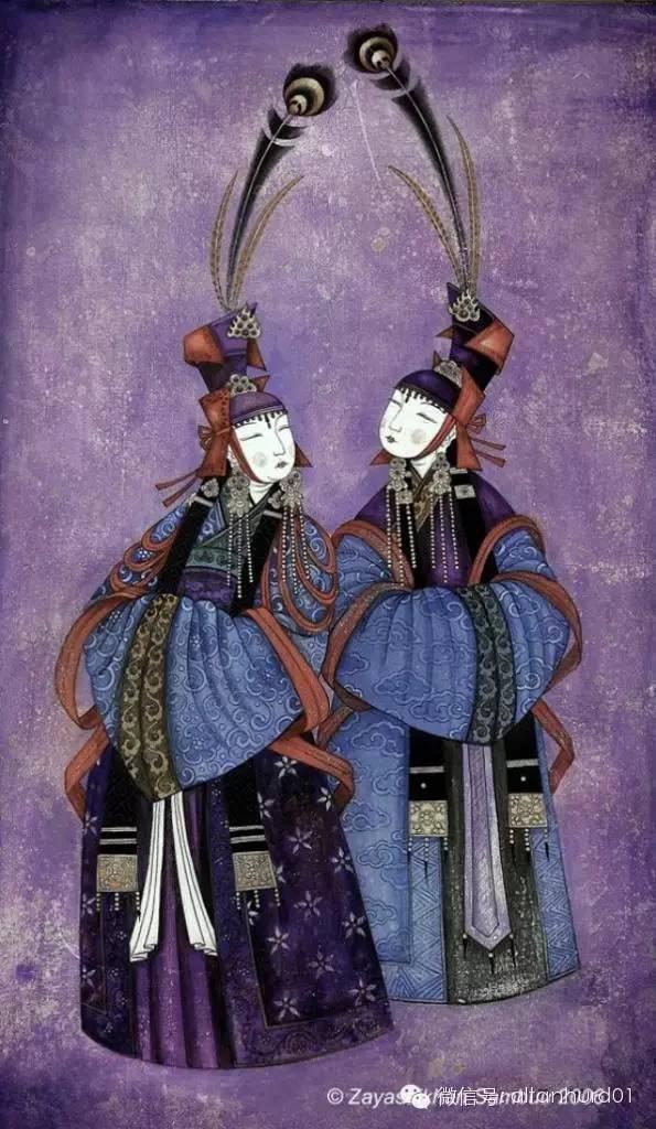 请欣赏蒙古国画家扎雅赛罕美术作品! 第23张