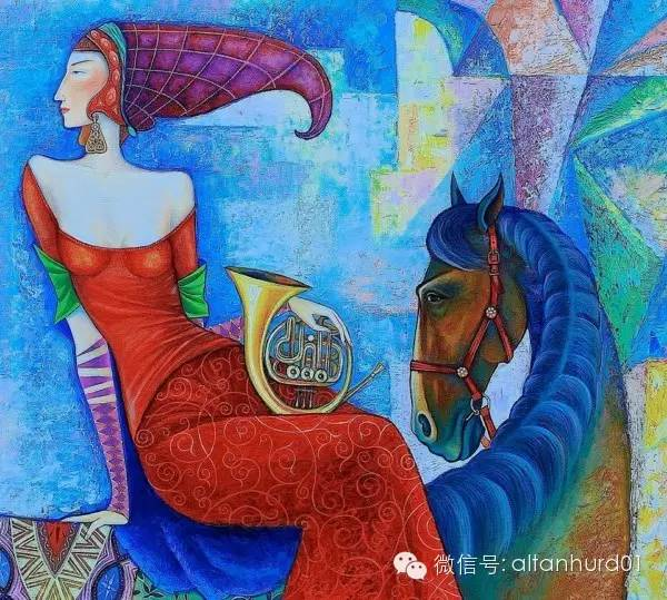 请欣赏蒙古国画家扎雅赛罕美术作品! 第27张