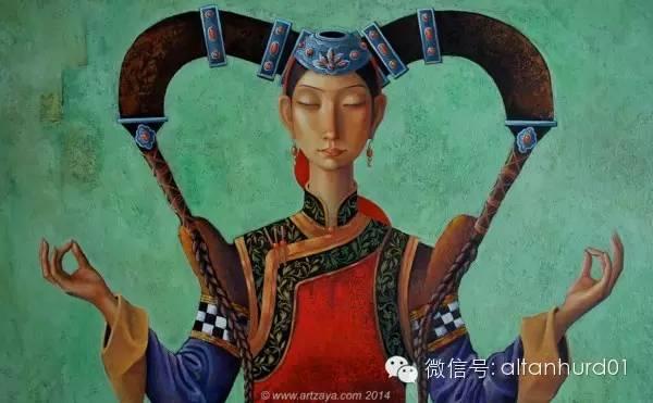 请欣赏蒙古国画家扎雅赛罕美术作品! 第25张