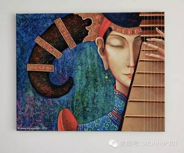 请欣赏蒙古国画家扎雅赛罕美术作品! 第26张