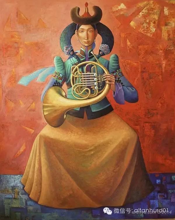 请欣赏蒙古国画家扎雅赛罕美术作品! 第28张