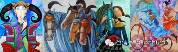 请欣赏蒙古国画家扎雅赛罕美术作品! 第30张