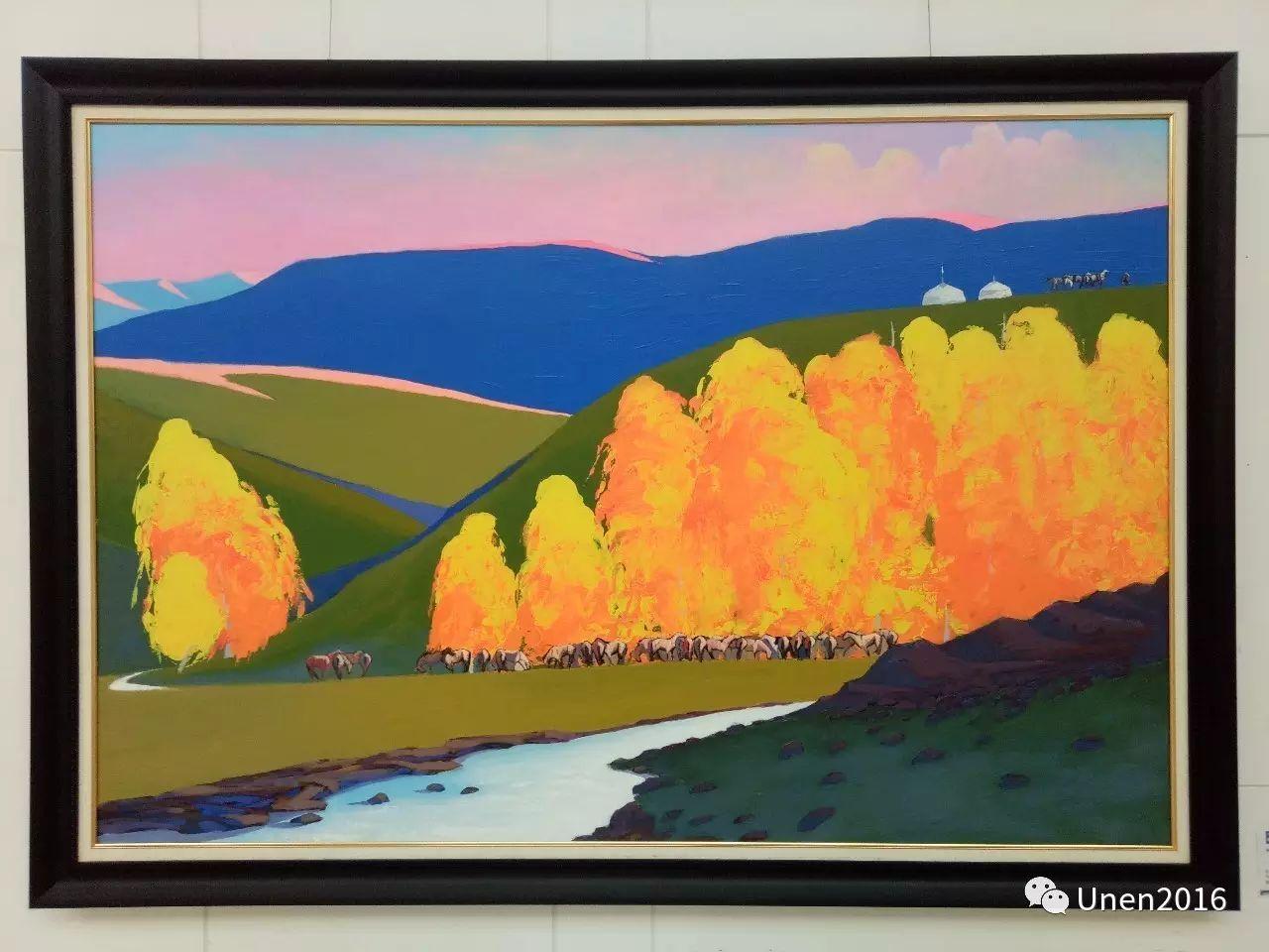 蒙古国画家傲日格勒宝勒德的油画作品 第3张