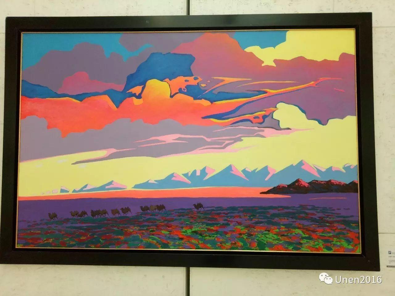 蒙古国画家傲日格勒宝勒德的油画作品 第10张