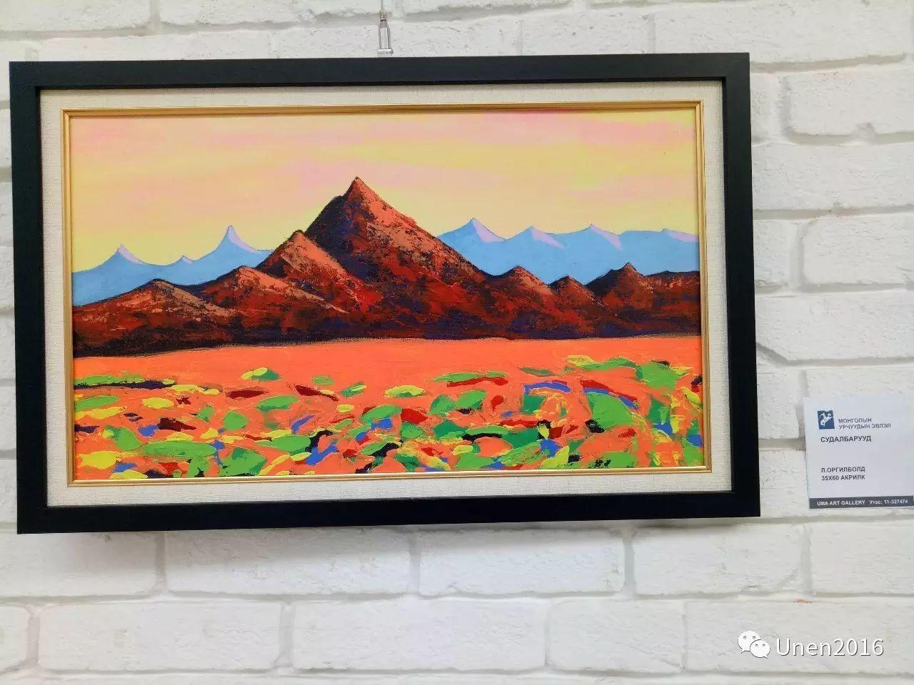 蒙古国画家傲日格勒宝勒德的油画作品 第11张