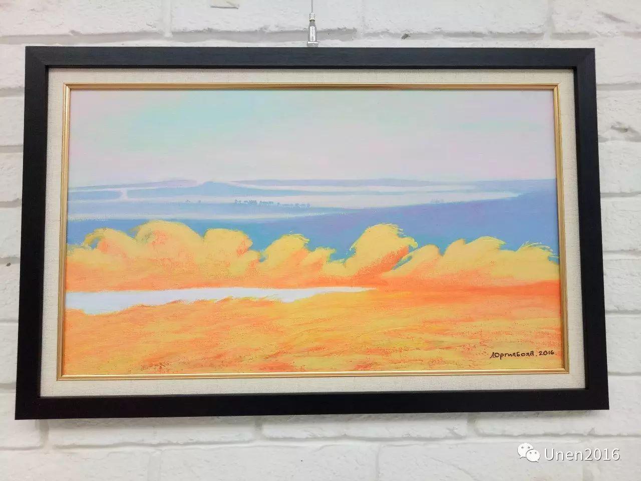 蒙古国画家傲日格勒宝勒德的油画作品 第8张