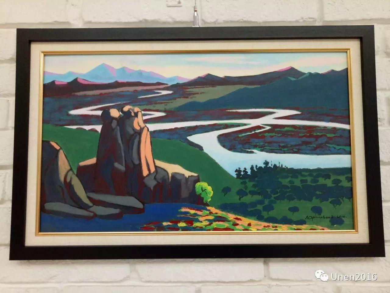 蒙古国画家傲日格勒宝勒德的油画作品 第9张
