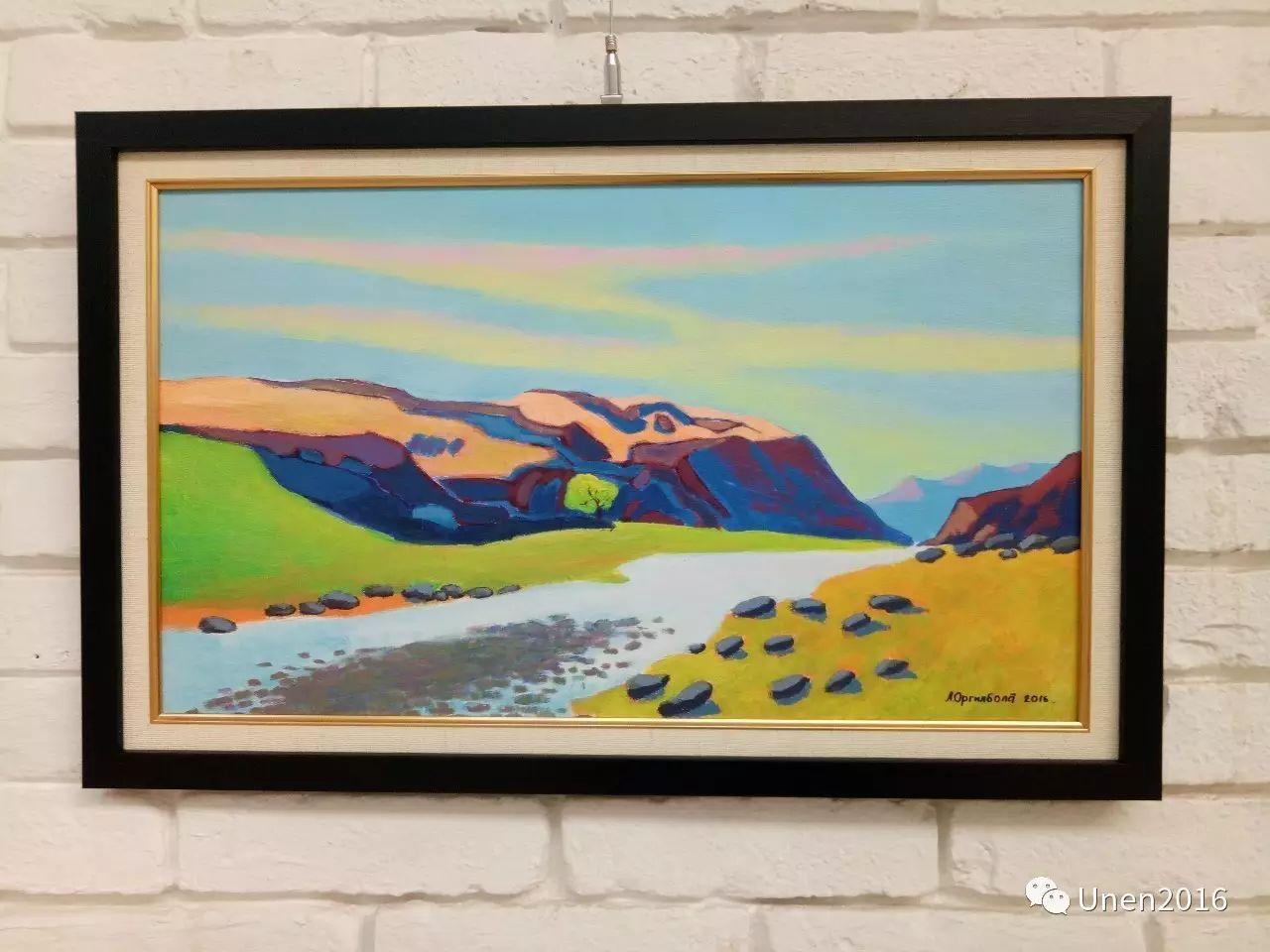 蒙古国画家傲日格勒宝勒德的油画作品 第13张