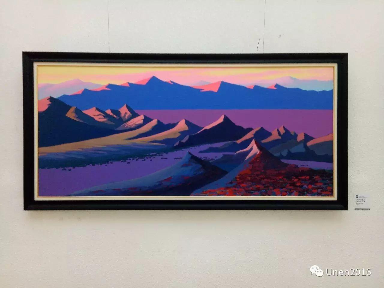 蒙古国画家傲日格勒宝勒德的油画作品 第15张