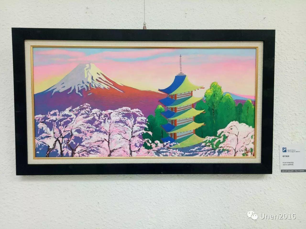 蒙古国画家傲日格勒宝勒德的油画作品 第16张