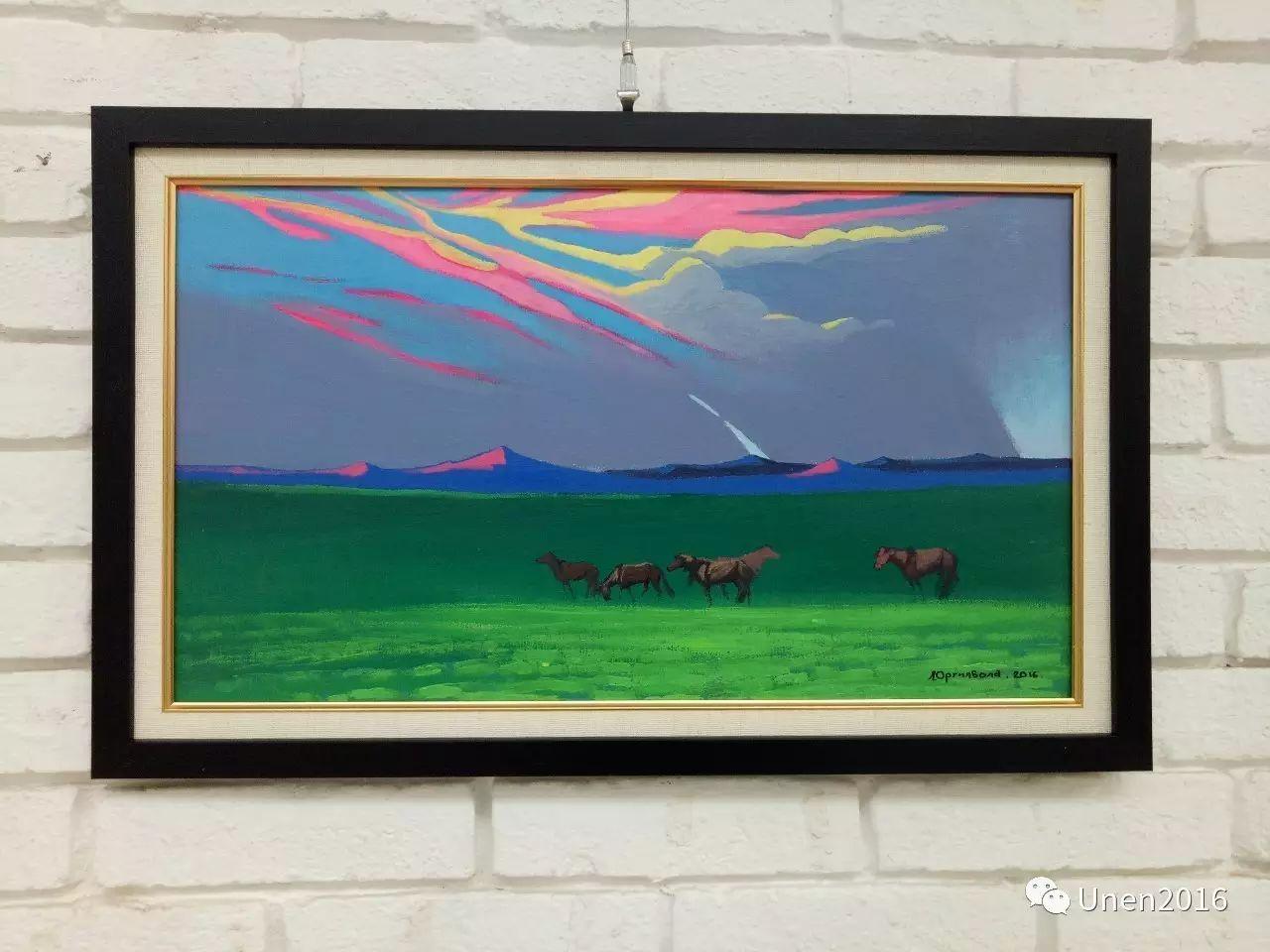 蒙古国画家傲日格勒宝勒德的油画作品 第12张