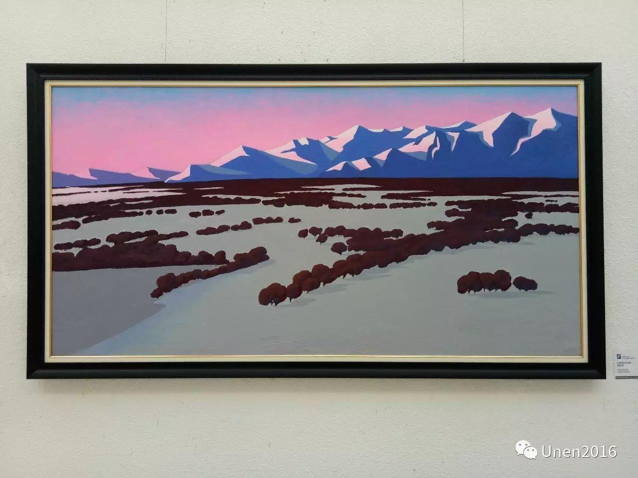 蒙古国画家傲日格勒宝勒德的油画作品 第14张