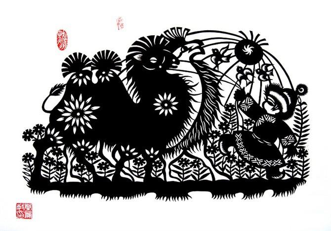 民间美术——蒙古族剪纸艺术欣赏 第2张