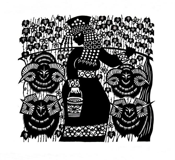 民间美术——蒙古族剪纸艺术欣赏 第6张