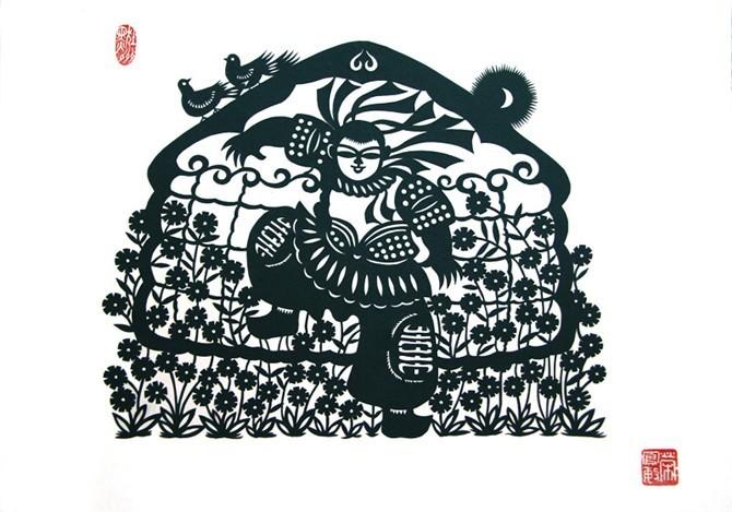 民间美术——蒙古族剪纸艺术欣赏 第8张