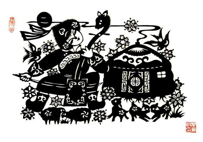民间美术——蒙古族剪纸艺术欣赏 第17张