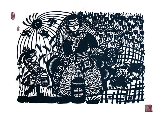民间美术——蒙古族剪纸艺术欣赏 第19张