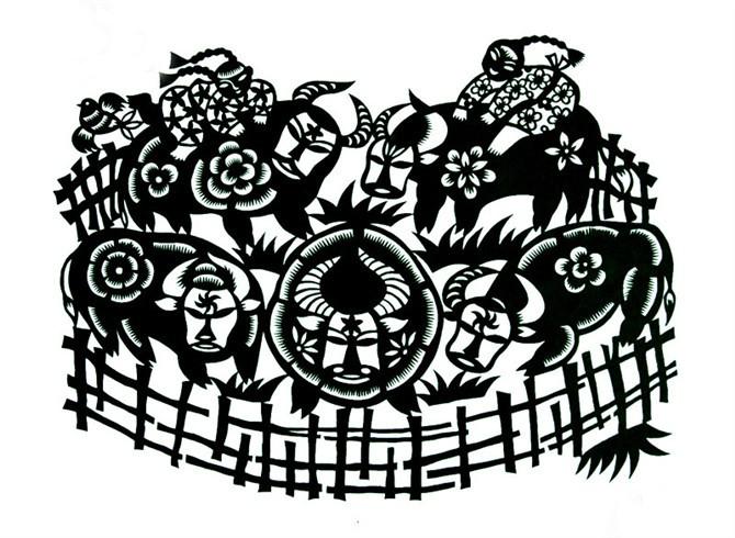 民间美术——蒙古族剪纸艺术欣赏 第22张