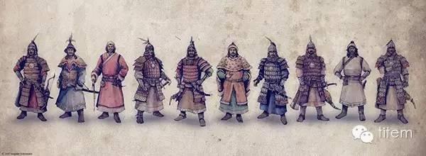 〖绘画〗蒙古帝国的将领画像 — 美术作品 第2张