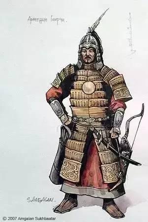〖绘画〗蒙古帝国的将领画像 — 美术作品 第3张