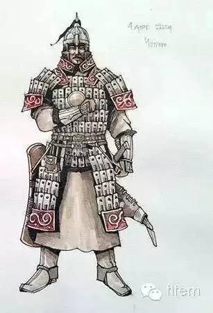 〖绘画〗蒙古帝国的将领画像 — 美术作品 第6张