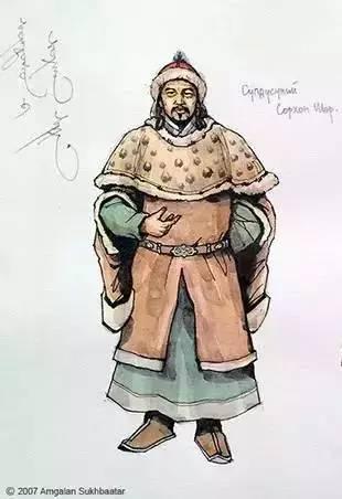 〖绘画〗蒙古帝国的将领画像 — 美术作品 第7张