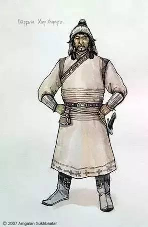〖绘画〗蒙古帝国的将领画像 — 美术作品 第5张