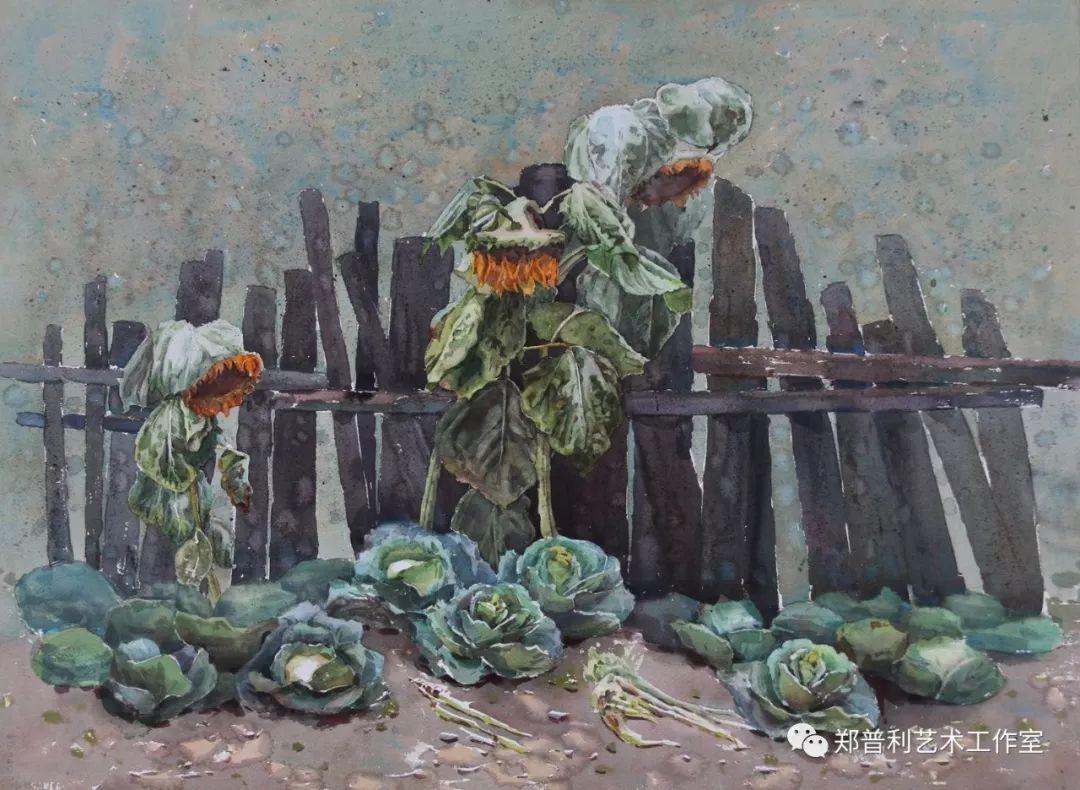 内蒙古师范大学美术学院2018届毕业水彩画 作品 第14张