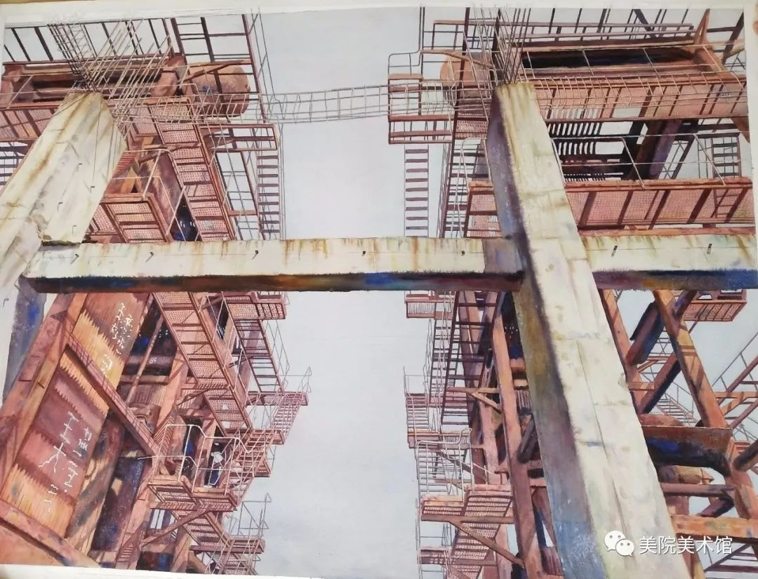 内蒙古师范大学美术学院2018届毕业水彩画 作品 第20张