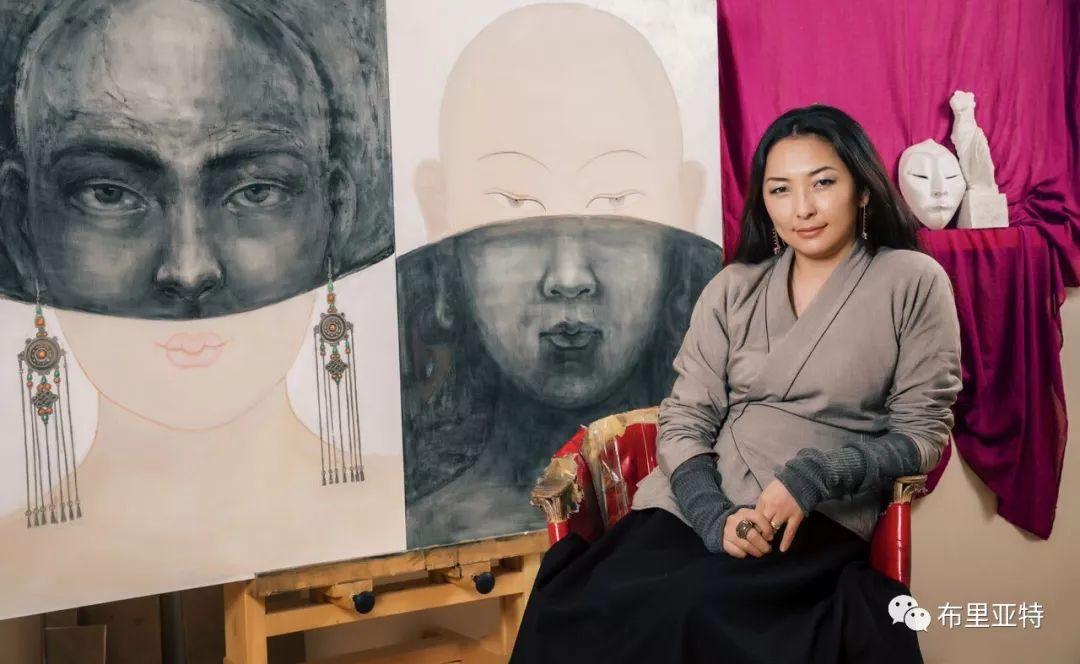 蒙古国艺术家介绍:孟克其其格·巴特孟克 第1张