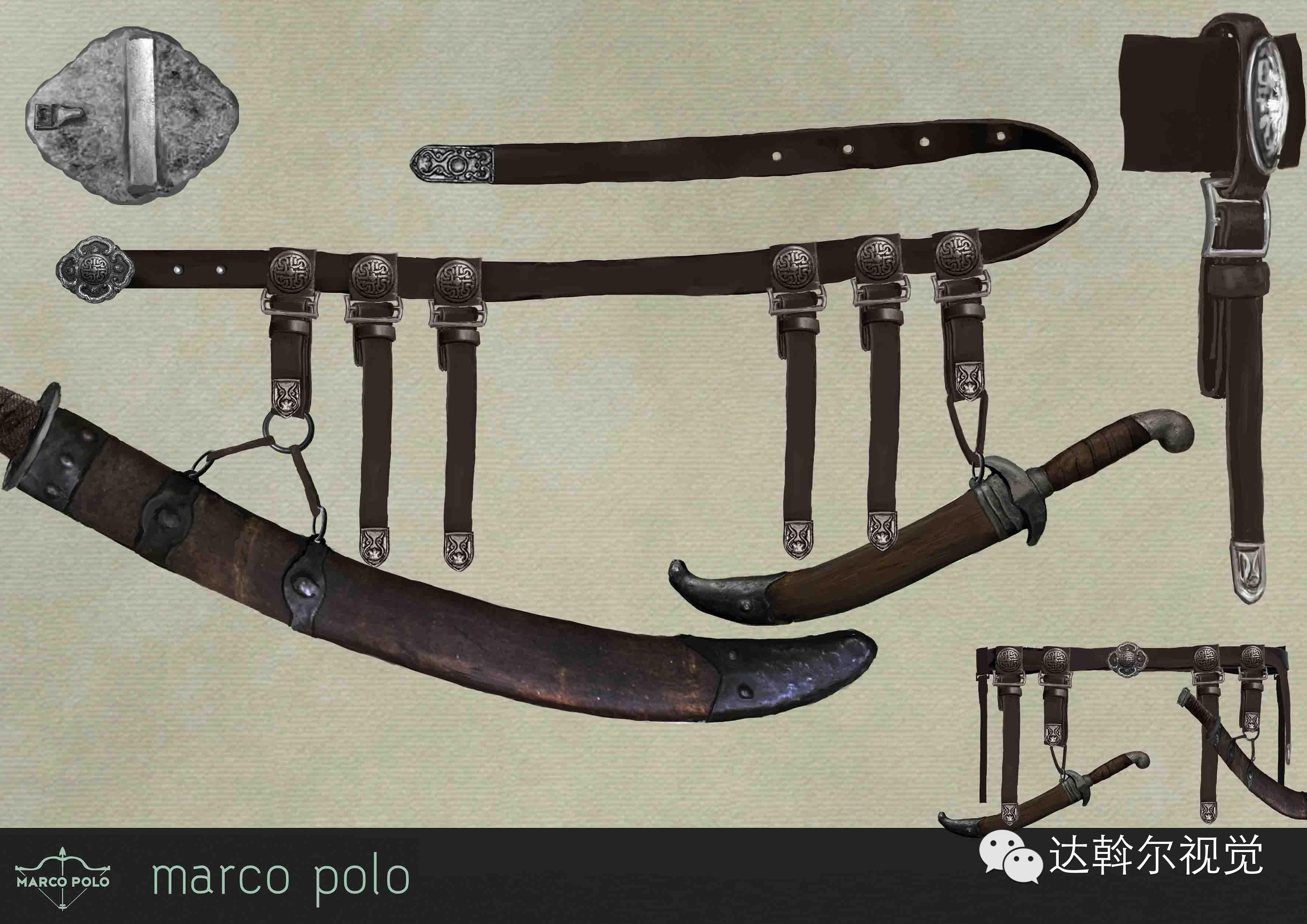 蒙古题材美剧《马可波罗》兵器设计欣赏 第27张