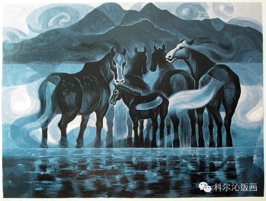 著名版画家山丹作品欣赏 第4张